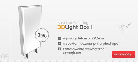 Kaseton świetlny 3DLight Box I