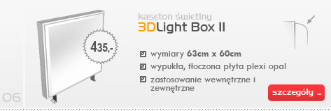 Kaseton świetlny 3DLight Box II