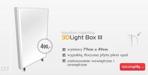 Kaseton świetlny 3DLight Box III