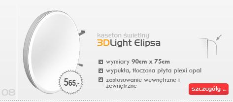 Kaseton świetlny 3DLight Elipsa