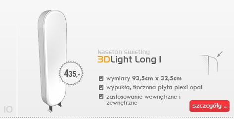 Kaseton świetlny 3DLight Long I