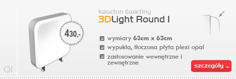 Kaseton świetlny 3DLight Round I
