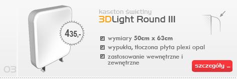 Kaseton świetlny 3DLight Round III