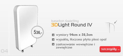 Kaseton świetlny 3DLight Round IV