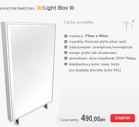 kasetony świetlne - 3dlight box III