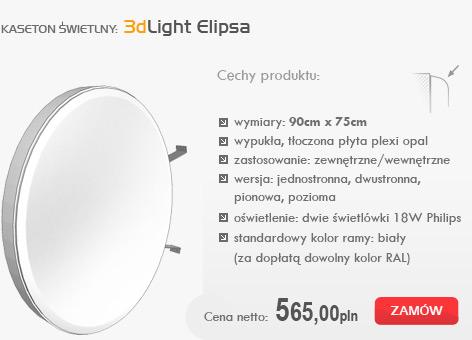 kasetony świetlne - 3dlight Elipsa