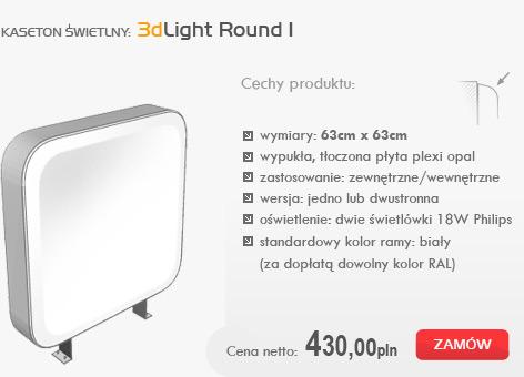 kasetony świetlne - 3dlight round I