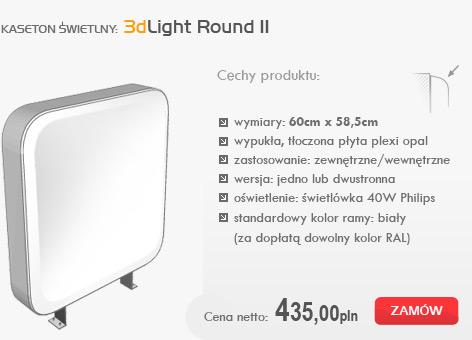 kasetony świetlne - 3dlight round II