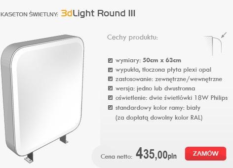 kasetony świetlne - 3dlight round III