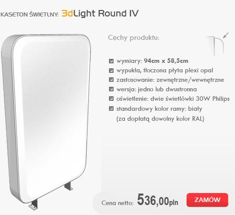 kasetony świetlne - 3dlight round IV