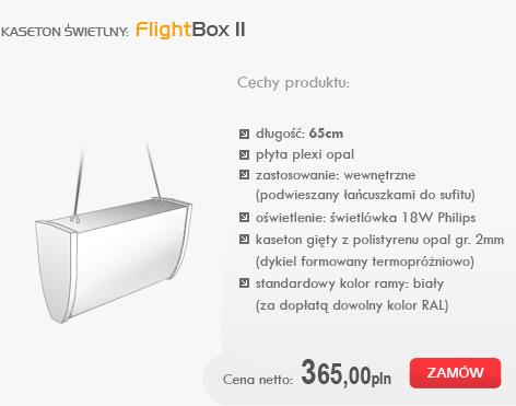 kasetony świetlne - FlightBox II