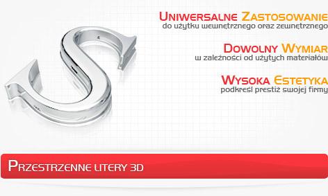 Przestrzenne litery 3D